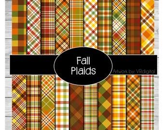 Fall plaids Pattern Vinyl HEAT TRANSFER or ADHESIVE