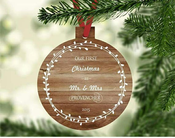 Christmas Ornament Wedding Gift: Wedding Gifts Couple First Christmas Ornament Married