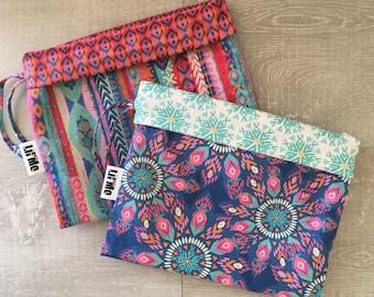 Retro print Drawstring bags, Nappy Bag, Nursery Bag, Library Bag, lovelilmo
