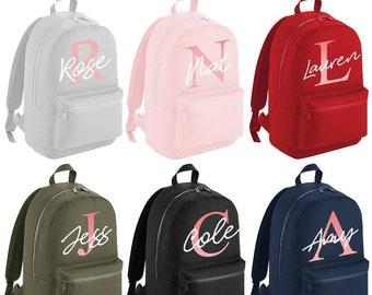 Customised Printed School PE Kit Bag Girls Personalised Rose Gold Name Gymsac