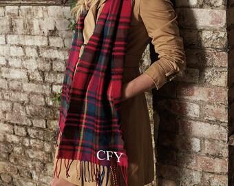 Personalised Scarf, Tartan Scarf, Monogrammed Scarf, Initials Scarf, Monogrammed Gift, Personalised Gift, Christmas Gift for Men Women SC1