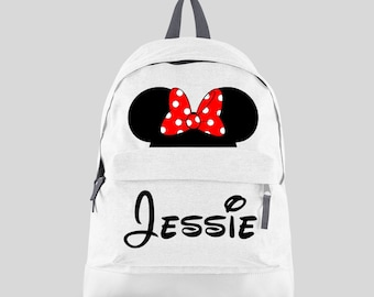 0341433323 Personalised Girls Character Backpack with ANY NAME - Kids Children  Teenagers Back To School Bag Dance Backpack Gymnastics - BPMO1
