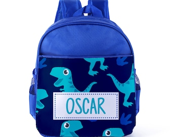 75e7deb1a4f7 Personalised Kids Dinosaur Reptile Backpack Custom Boys Children s School  Bag