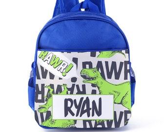 Personalised Kids Dinosaur Reptile Rawr Backpack Custom Boys Children s  School Bag 7b69ed088fbb8