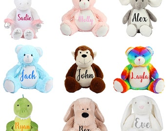 Personalized Memorial Plush. You Choose Name And Color Writing. Other Baby Keepsakes