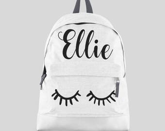 01e69de4cd Personalised Lashes Backpack with ANY NAME- Kids Children Teenagers School  Student rucksack - Back To School Bag Backpack Girls Gift -CBPEY
