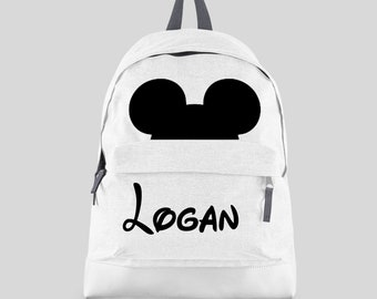 8871065146 Personalised Boys Character Backpack with Any Name - Kids Children  Teenagers Back To School Bag Football Backpack PE - BPMO