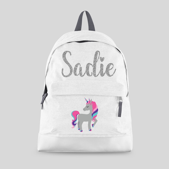 Personalised Kids Backpack Any Name Dinosaur Boys Childrens Back To School Bag 1