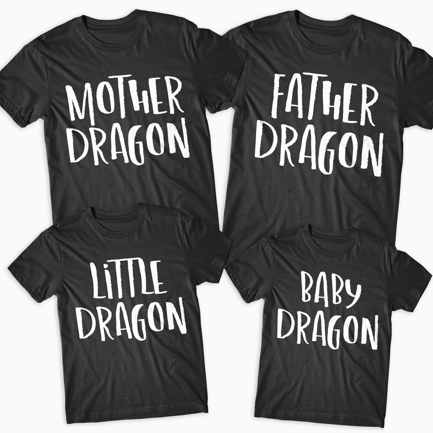 4b406d0b Dragon Matching Family Tshirts Mother Of Dragons Father Mother | Etsy