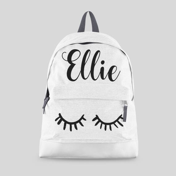1a6e8d4f05c Personalised Lashes Backpack with ANY NAME Kids Children   Etsy