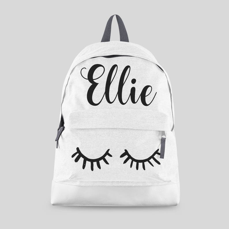 Personalised Lashes Backpack with ANY NAME Kids Children image 0