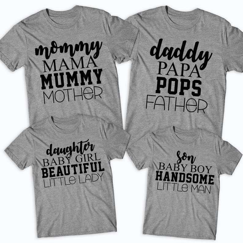 3aab910b52 Mommy Daddy Son Daughter Matching Family T-Shirts Father | Etsy