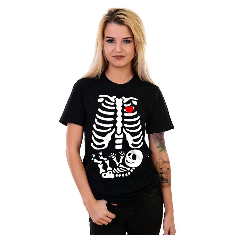 e02cadbb70f0 Skeleton Baby TShirts Costume Xray Halloween T-shirt Skeleton   Etsy