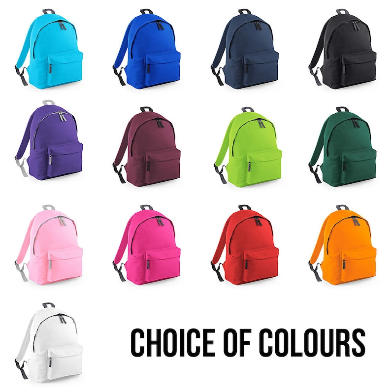 Back To School Bag Backpack Personalised Backpack with ANY NAME in Silver Glitter BPC1 Kids Children Teenagers School Student rucksack