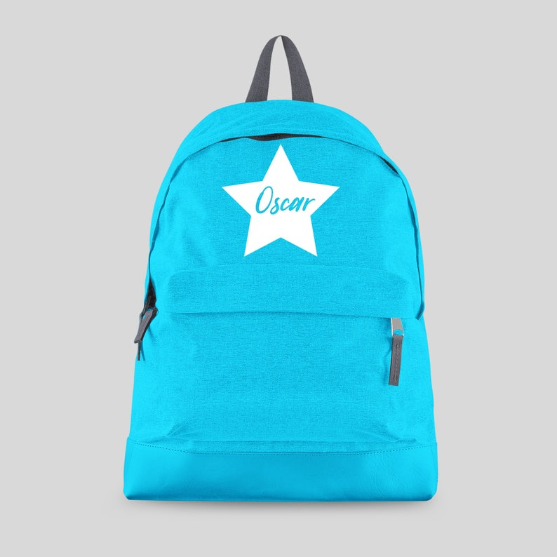 a5a38168a6 Personalised Backpack with ANY NAME Star Kids Children