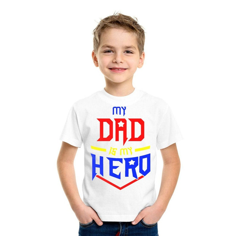 My Dad Is My Hero T-Shirt Fathers Day T-Shirt, Fathers Day Top Tee , Gift  for new Daddy, Dad, Daddy, Daughter, Daddys Girl Gift Idea 581