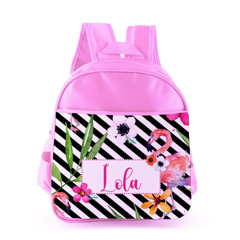 Personalised Flamingo /& Lollies Children/'s PE Swimming Kids Drawstring Bag