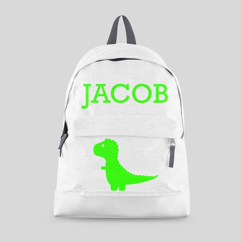 d62edc34c3 Personalised Boys Dinosaur Backpack with ANY NAME Kids