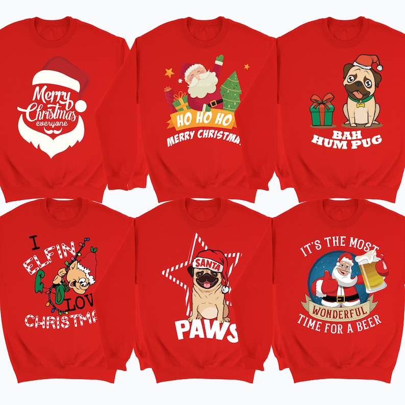 e452b5be79e2 Funny Christmas Sweater Ugly Christmas Jumper Santa Claus