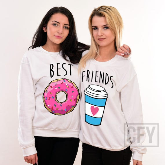Mejores amigos dona y café que sudaderas mejor amigo bestie   Etsy