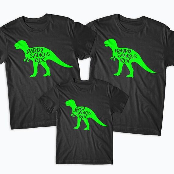 Mommysaurus Babysaurus Daddysaurus correspondant TShirts dinosaure T fille Rex maman fils mère maman papa fille T correspondant T shirt, chemises de famille 37a1ad