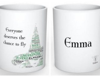 EmsiLou WICKED inspired Typography MUG (personalised)