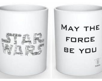 EmsiLou STAR WARS inspired Typography MUG (personalised)