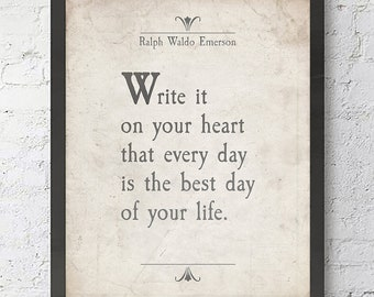 Emerson Heart Quote Etsy