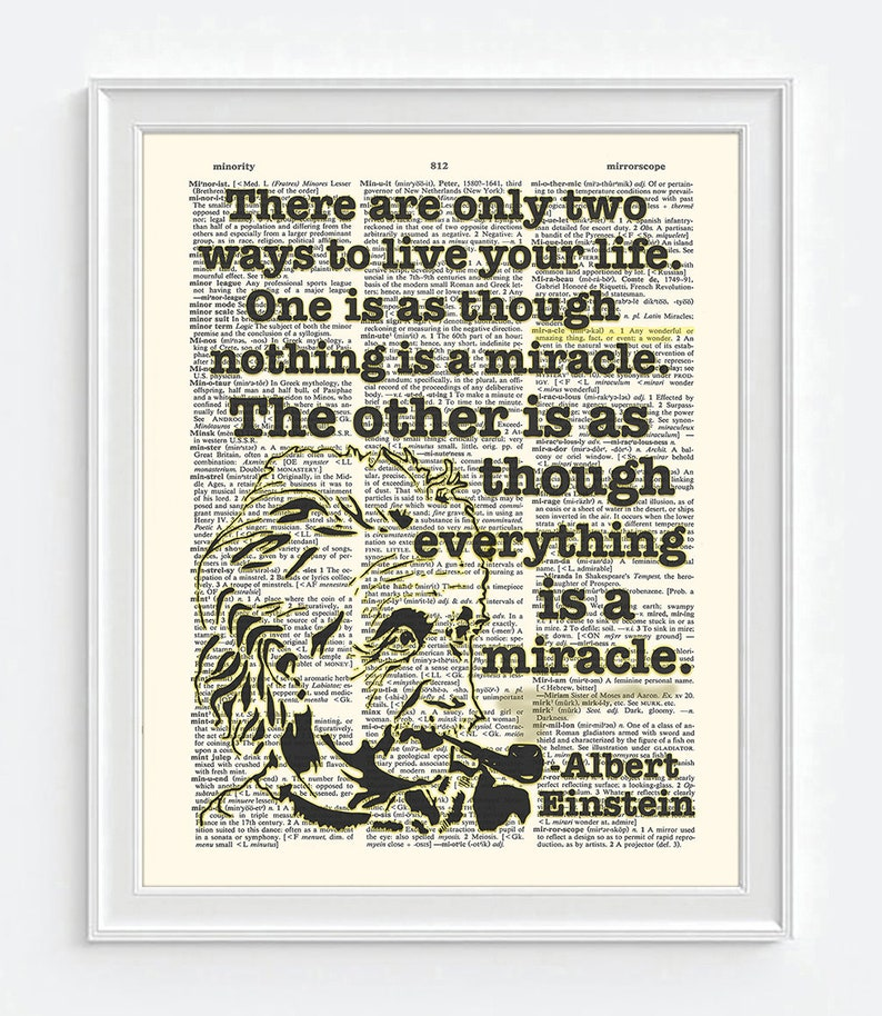 Everything is a miracle Albert Einstein quote ART PRINT | Etsy