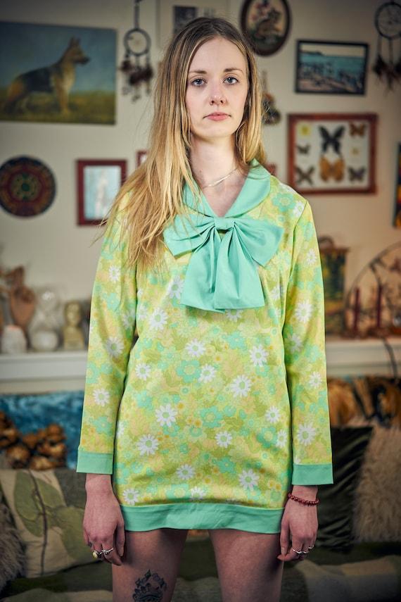 60s Style Floral Mini Dress