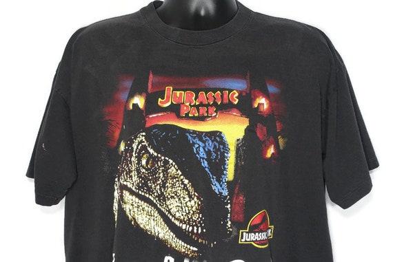 1993 Jurassic Park Vintage T Shirt - Have A Nice Day - Raptor JP Logo Original 90s Promo Cult Movie T-Shirt