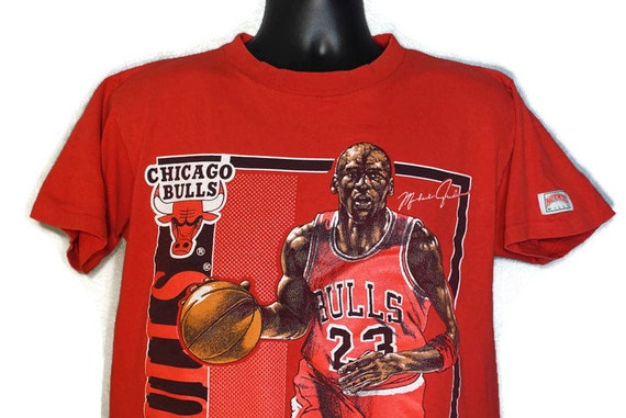 1991 Michael Jordan - Nutmeg Chicago Bulls Stat Card Vintage T-Shirt