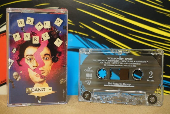 Bang! by World Party Vintage Cassette Tape
