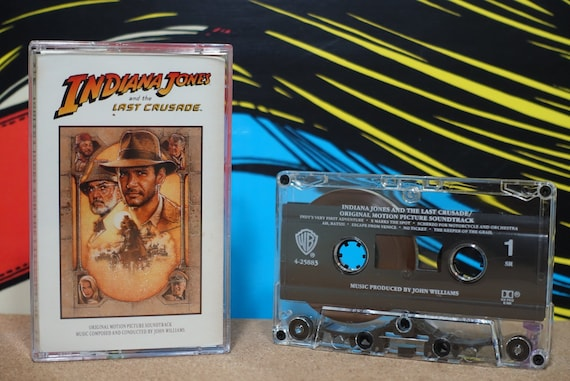Indiana Jones And The Last Crusade (Original Motion Picture Soundtrack) by John Williams Vintage Cassette Tape