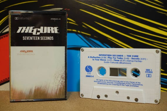 Seventeen Seconds by The Cure Vintage Cassette Tape