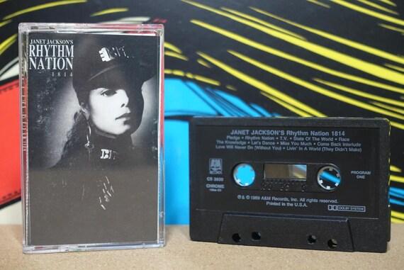 Rhythm Nation 1814 by Janet Jackson Vintage Cassette Tape
