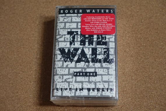 The Wall Live In Berlin (Rare Still SEALED Double 2 Cassettes) by Roger Waters of Pink Floyd Vintage Cassette Tape