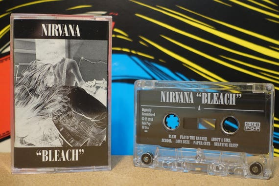 Bleach by Nirvana Vintage Cassette Tape