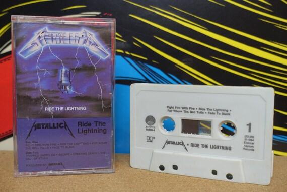 Metallica Ride The Lightning Cassette Tape - 1984 Elektra Records Vintage Analog Music