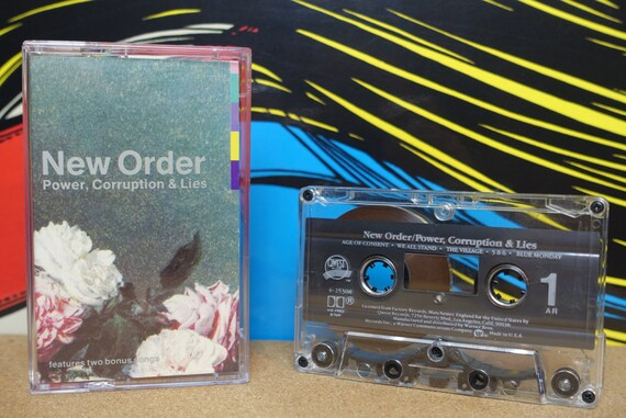 New Order Cassette, Power, Corruption & Lies Cassette Tape, 1985 Qwest Records, Vintage Analog Music, Music Lover Gift