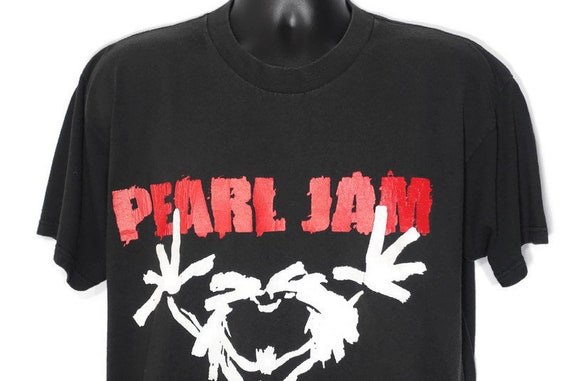 1992 Pearl Jam Vintage T Shirt - ALIVE Stickman Eddie Vedder TEN Era - 2-Sided Original 90s Concert Band T-Shirt