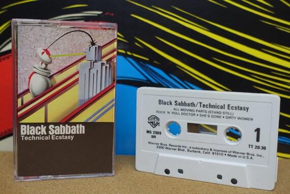 Black Sabbath - Technical Ecstasy Cassette Tape 1976 Warner Bros Records Vintage Analog Heavy Metal Doom Music