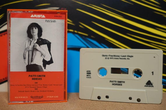 Horses by Patti Smith Vintage Cassette Tape