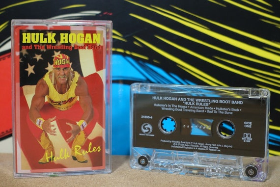 Hulk Rules by Hulk Hogan And The Wrestling Boot Band Vintage Cassette Tape