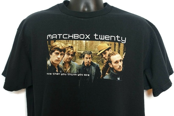 2000s Matchbox 20 Vintage T Shirt - More Than You Think You Are Rob Thomas 2-Sided Original 00s Band Tee Concert T-Shirt