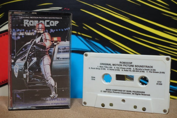 Robocop (Music From The Original Motion Picture Soundtrack) by Basil Poledouris Vintage Cassette Tape