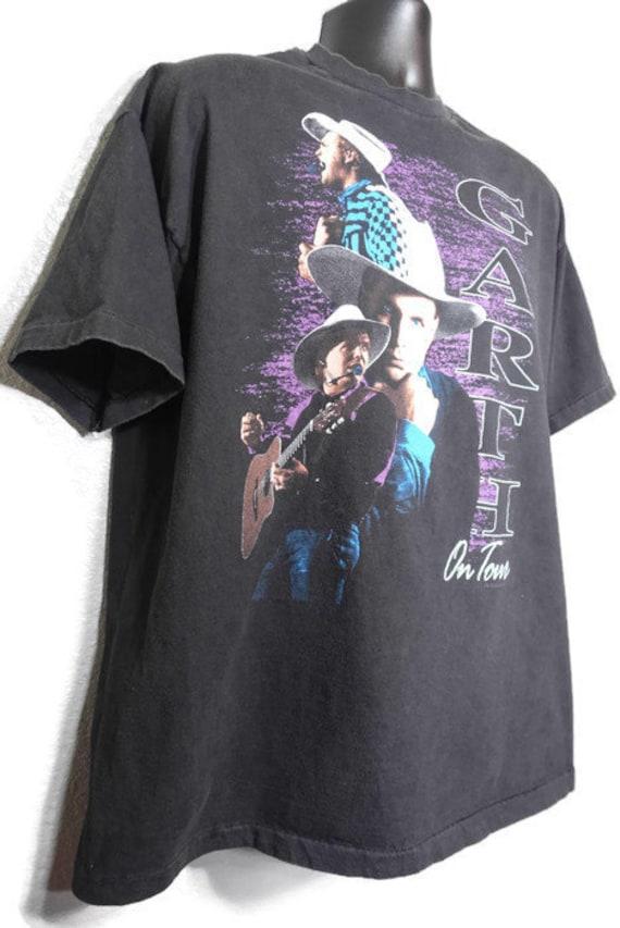 1992 tournée garth Brooks - sur Vintage tournée 1992 Concert T-Shirt 6df805