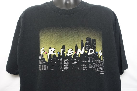 1995 Friends Vintage T Shirt - NY Skyline Ross Rachel Monica Chandler Phoebe Joey CULT Original 90s TV Show Promo Fruit of the Loom T-Shirt