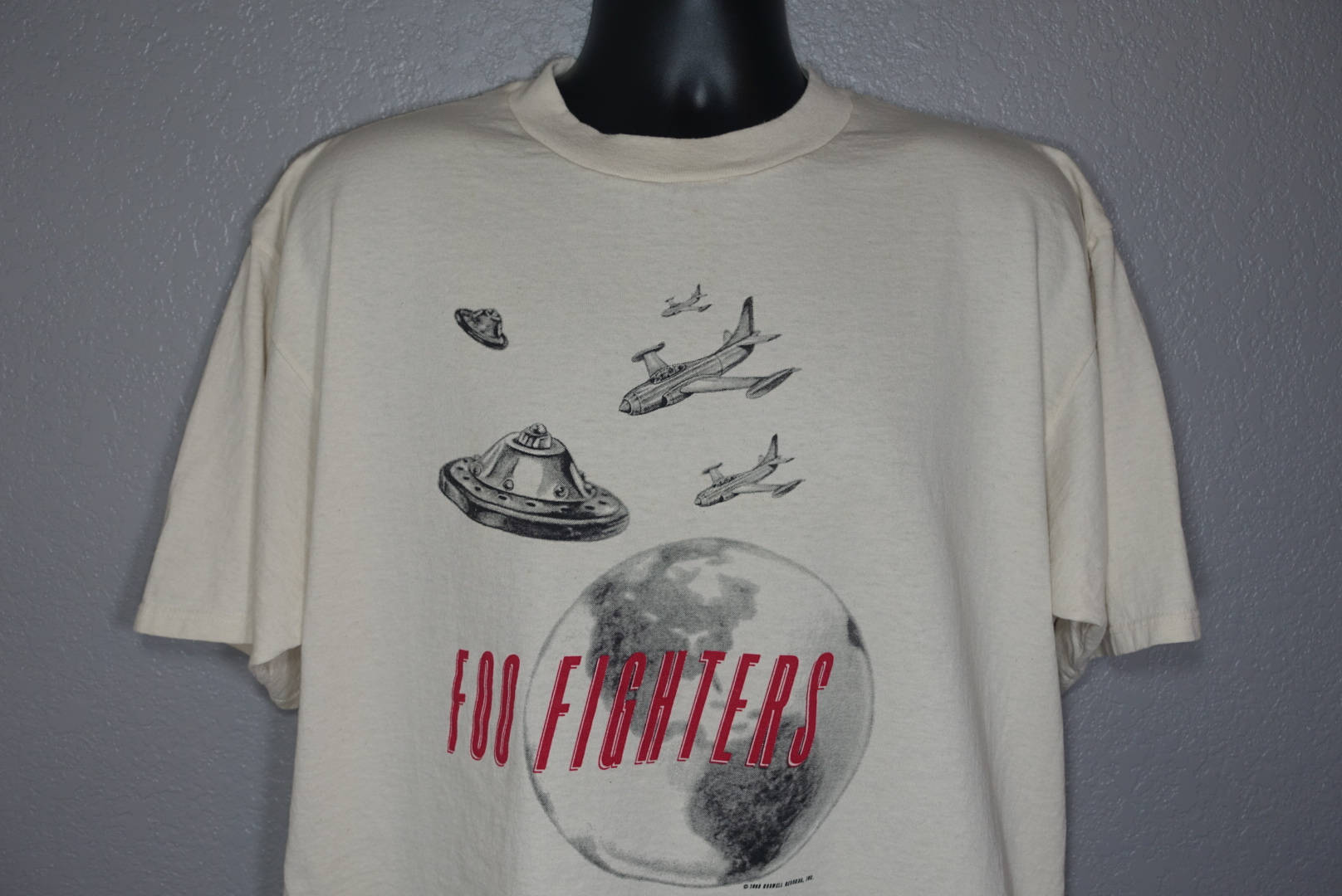 7189198016eb 1995 RARE Foo Fighters - Roswell Records UFO Vintage Concert T ...