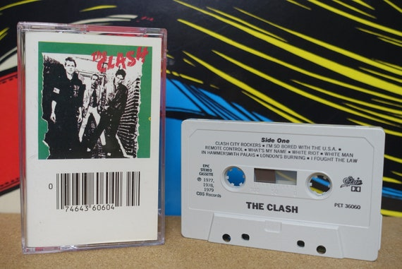 The Clash Self Titled Cassette Tape - 1970 Epic Records Vintage Analog Music